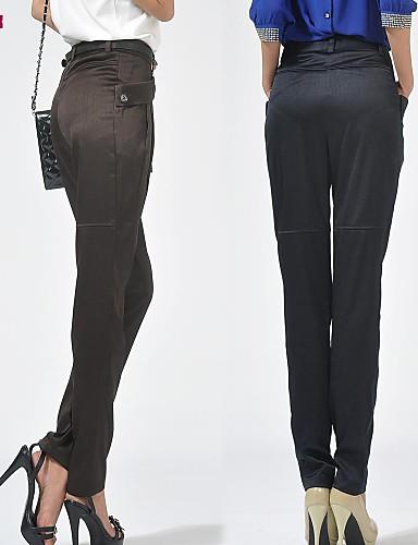 Femme Grandes Tailles Non Elastique Sarouel Jeans Pantalon, Polyester Printemps