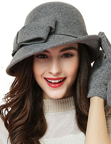 Women's Wool Bowler/Cloche Hat,Cute Party Work Casual All Seasons