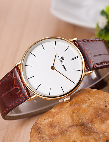 yoonheel Women's Casual Watch / Fashion Watch Leather Band Black / White / Brown