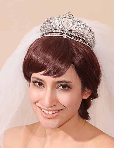 3 strati Bordo smussato Veli da sposa Accessori per capelli con velo con Con  pettinino a fiore Tulle   Classico 2dae518c13a8