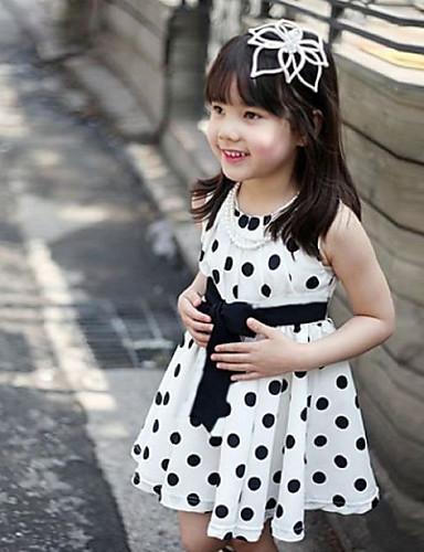 Dívčí White Dots Bowknot princezna zdobit