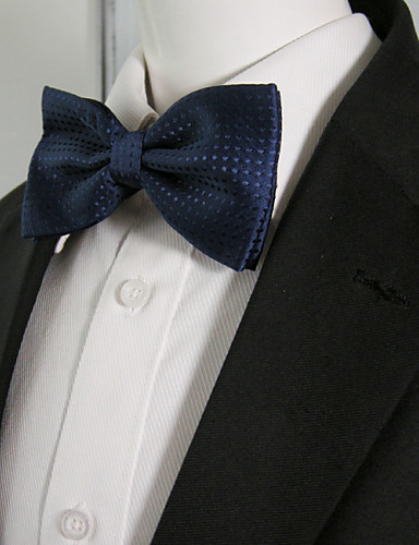 Men's Party Rayon Bow Tie - Solid Colored Bow Basic