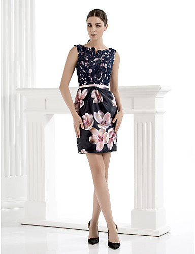 6d9e2f86 TS Couture Cocktail Party Dress - Sheath/Column Scoop Knee-length Lace  3574727 2019 – $119.99