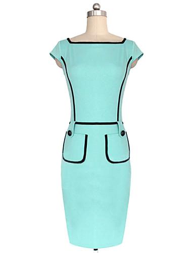 Γυναικεία Γραφείο Λεπτό Θήκη Φόρεμα