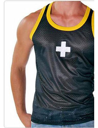 Men's Micro-elastic Solid Thin, Mesh Black