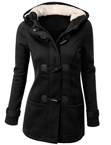 Women's Basic Coat - Solid Colored, Basic / Winter