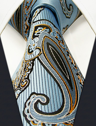 Herrn Party Grundlegend, Kunstseide Hals-Binder - Grundlegend Einfarbig Paisley-Muster