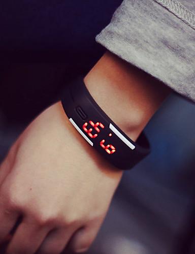 cheap Bracelet Watches-Couple's Bracelet Watch Digital Rubber Black / White / Blue 30 m Digital Fashion Elegant - Light Blue Leaf Lemon