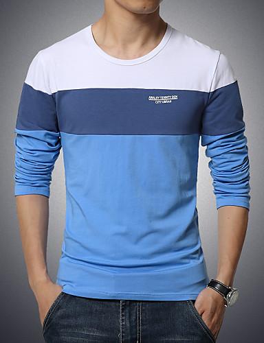Ανδρικά Μεγάλα Μεγέθη T-shirt Αθλητικά Μονόχρωμο Συνδυασμός Χρωμάτων Βαμβάκι