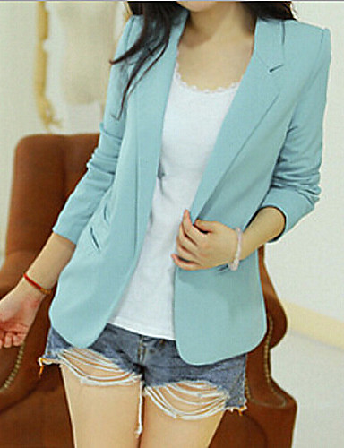 Women's Work Blazer - Solid Solid Colored