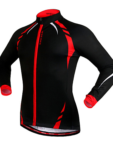 cheap Cycling Clothing-WOSAWE Men's Women's Cycling Jacket Bike Jacket Jersey Top Thermal / Warm Windproof Fleece Lining Sports Fleece Winter Red / black / Black / Yellow Mountain Bike MTB Road Bike Cycling Clothing Apparel