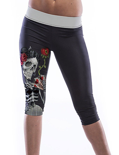 Naisten Kuvio Leggingsit,Polyesteri Spandex Ohut