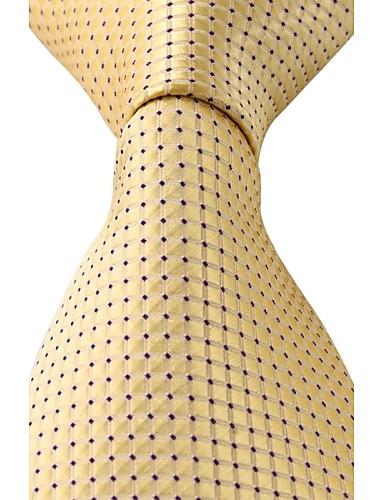 Unisex Vintage Sevimli Parti İş Günlük Polyester Boyun Bağı,Tüm Mevsimler Altın