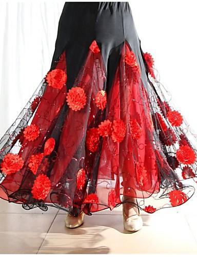 Balo Dansı Elbiseler&Etekler Kadın's Performans Splandeks Drape Etek