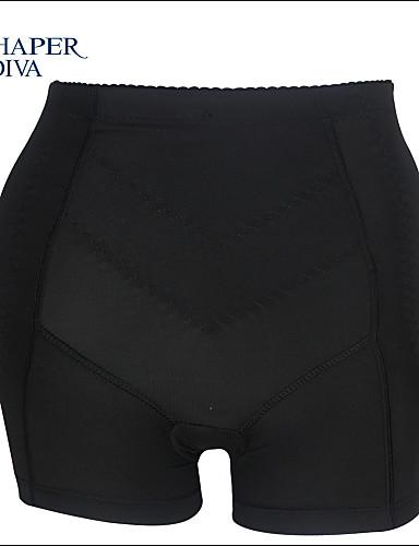 Shaperdiva Women's Black Padded Panties Abundant Buttocks Butt Lift Body Shaper