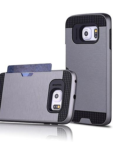 Pouzdro Uyumluluk Samsung Galaxy S7 edge / S7 / S6 edge plus Kart Tutucu Arka Kapak Solid PC