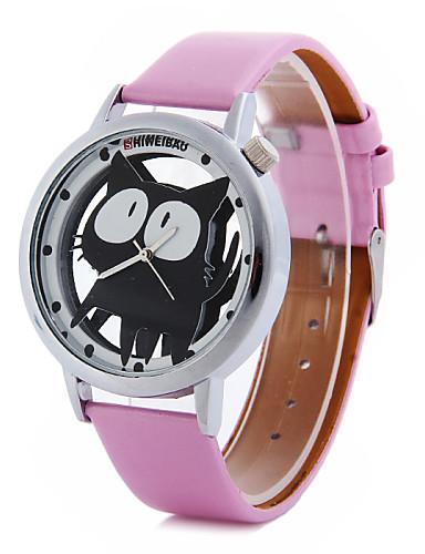 Women's Cartoon Cat PU Band  Quartz Strap Watch Cool Watches Unique Watches