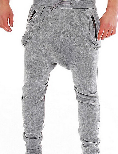 Men's Casual Active Cotton Slim Harem Sweatpants Relaxed Pants - Solid Colored