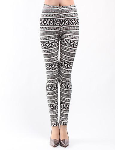 Damen Bedruckt Legging,Polyester Dünn