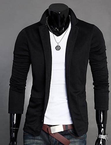 Men's Slim Blazer - Solid Colored Notch Lapel