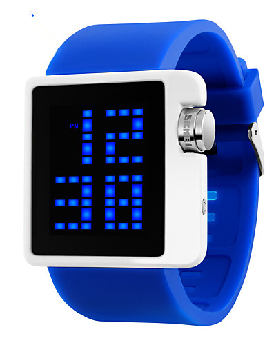 Women's Digital Wrist Watch Calendar / date / day / Water Resistant / Water Proof PU Band Charm / Fashion Black / White / Blue / Red