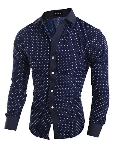 Herrn Solide - Chinoiserie Hemd, Klassischer Kragen Baumwolle