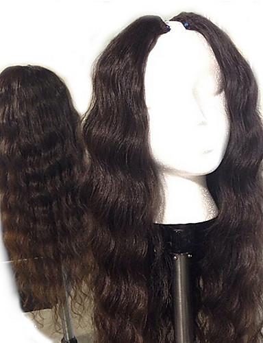 povoljno Perike s ljudskom kosom-Ljudska kosa Perika s U-otvorom Perika Srednji dio stil Brazilska kosa Tijelo Wave Priroda Crna Perika 130% Gustoća kose s dječjom kosom Prirodna linija za kosu Afro-američka perika 100% rađeno rukom