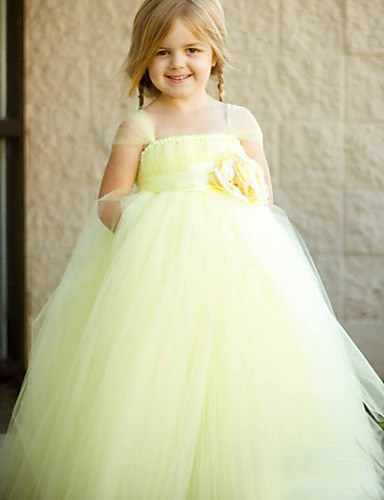 Vestido de vestidos com biquíni com vestido de flor com vestido de bola - Tiras de espaguete sem mangas de tul com flor por minuto