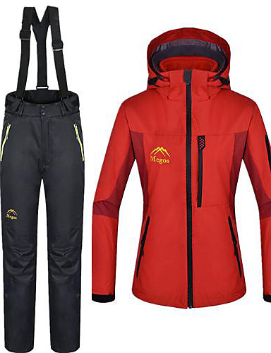 cheap Outdoor Clothing-Women's Hiking 3-in-1 Jackets Outdoor Winter Waterproof Thermal / Warm Jacket 3-in-1 Jacket Winter Fleece Jacket Skiing Camping / Hiking Snowboarding Red / Blue