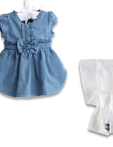 Egyszínű Pamut Tavasz / Ősz Lány Kék,Kék