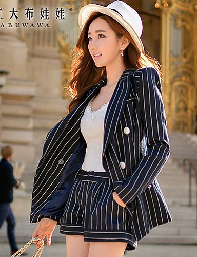 billige Tights til damer-Dame Gatemote Shorts Bukser - Stripet Navyblå
