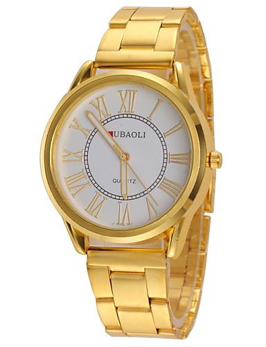 JUBAOLI® Women's Casual Design Gold Alloy Band Quartz Wristwatch Cool Watches Unique Watches