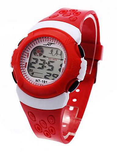 Crianças Relógio Esportivo / Relógio de Moda / Relogio digital Japanês Alarme / Calendário / Cronógrafo Plastic Banda Legal Preta / Azul / Vermelho / LCD / Um ano