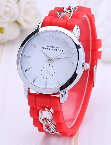 Mulheres Relógio de Pulso Venda imperdível Plastic Banda Amuleto / Fashion / Relógio Elegante Preta / Branco / Azul