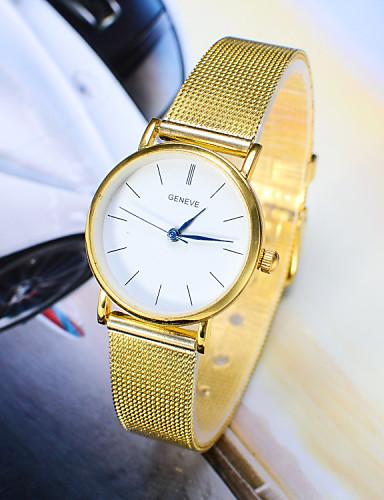 Mulheres Relógio de Pulso Venda imperdível Lega Banda Amuleto / Fashion Prata / Dourada