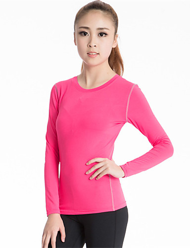 Clothing & Accessories Womens Ladies Long Sleeve T Shirt Top Wickable Breathable Running Training Gym Wide Selection; Women's Clothing