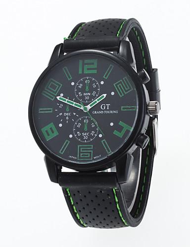 Herre Quartz Armbåndsur / Hot Salg Silikone Bånd Afslappet Sort