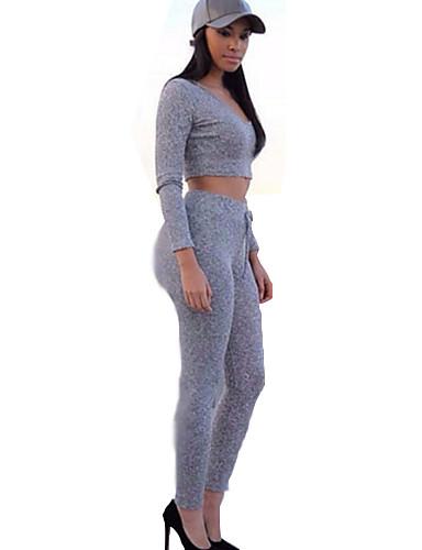 Žene Aktivan Activewear Set Jednobojni