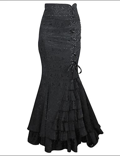 Damen Ausgehen Baumwolle Trompete / Meerjungfrau Röcke - Solide Mehrschichtig / Schlank