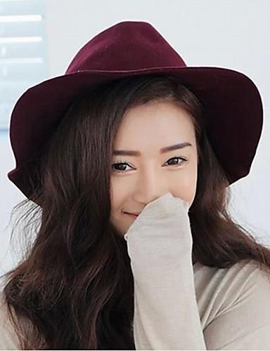 Fashion Women Wool Blend Fedora Hat,Casual Spring / Fall