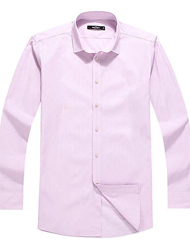 Sieben Brand® Herren Hemdkragen Lange Ärmel Shirt & Bluse Rosa-704A3B4210