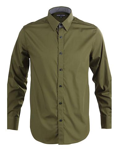 JamesEarl Muškarci Kragna košulje Dugi rukav Shirt & Bluza Siva - DA112045314