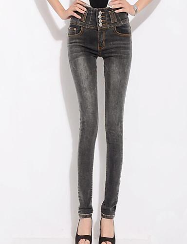 Damen Hose - Übergröße / Leger Enger Schnitt Polyester Mikro-elastisch