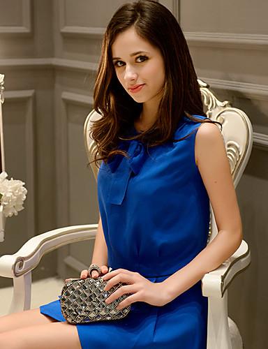 dabuwawa női kék színű blúz, kerek nyakú ujjatlan