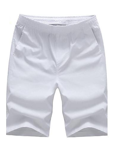 Pánské Jednobarevné Denní nošení   Sportovní   Větší velikosti Bavlna Šortky  Černá   Modrá   Zelená 7a1562cc38