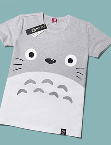 halpa Cosplay ja rooliasut-Innoittamana Naapurini Totoro Cat Anime Cosplay-asut Japani Cosplay T-paita Painettu Lyhythihainen T-paita Käyttötarkoitus Miesten / Naisten