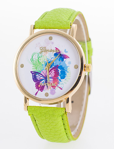 Women's Fashion Watch Quartz Casual Watch Leather Band Casual Black White Blue Red Brown Green Yellow