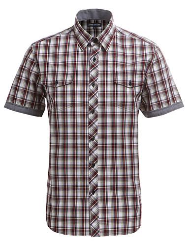 JamesEarl Muškarci Kragna košulje Kratki rukav Shirt & Bluza Bijela-DA102007809