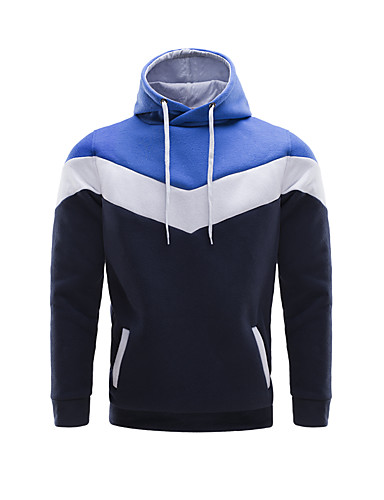 Herren Freizeit Activewear Sets - Patchwork Lang Baumwolle / Polyester
