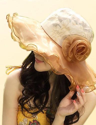 כובע עם שוליים רחבים - סרוג כותנה דפוס חג בגדי ריקוד נשים / חמוד / מוזהב / בייז' / כחול / אפור